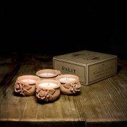 Lavender Scented Rose Candle Pots - Set of 4