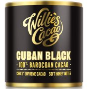 Willies Cacao Cuban Black Cooking Chocolate Cylinder - 100% Baracoa & Honey - 180g