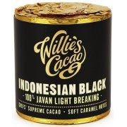 Willies Cacao Indonesian Black Cooking Chocolate Cylinder - 100% Javan Light Breaking - 180g