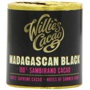 Willies Cacao Madagascan Black Cooking Chocolate Cylinder - 100% Sambirano & Summer Fruit - 180g