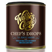 Willies Cacao Venezuelan Chefs Drops Cooking Chocolate - 72% Rio Caribe - 150g