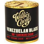 Willies Cacao Venezuelan Black Cooking Chocolate Cylinder - 100% Carenero, Nut & Spice - 180g