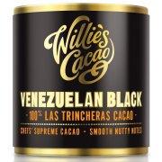 Willies Cacao Venezuelan Black Cooking Chocolate Cylinder - 100% Las Trincheras & Nutty Notes - 180g