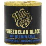 Willies Cacao Venezuelan Black Cooking Chocolate Cylinder - 100% Rio Caribe - 180g