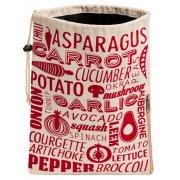 Vegetable Preserving Bag - Red & Natural