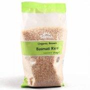 Suma Prepacks Organic Brown Basmati Rice 750g