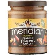 Meridian Organic Peanut Butter - Crunchy - No Added Sugar - 280g