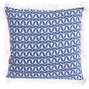 Buffalo Print Cushion - Blue