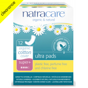 Natracare Organic Cotton Ultra Pads - Super Plus - 12