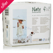 Naty by Nature Babycare Disposable Nappies - Junior - Size 4+ - Pack of 30