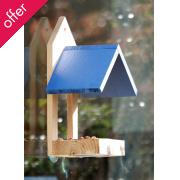 Roofed Window Bird Feeder - Blue