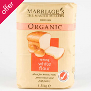 Marriages Organic Strong White Flour 1.5kg