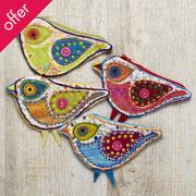 Bird Shaped Patchwork Purse
