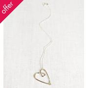 La Jewellery Recycled Silver Love Neckalce
