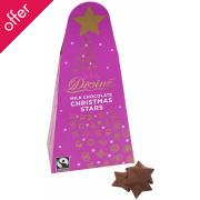 Divine Fairtrade Milk Chocolate Christmas Stars 100g