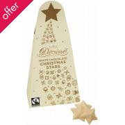 Divine Fairtrade White Chocolate Christmas Stars 100g