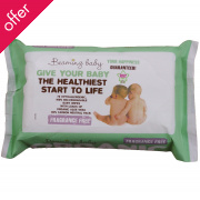 Beaming Baby Organic Baby Wipes - Fragrance Free 72 Sheets