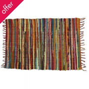 Multicoloured Recycled Rag Rug