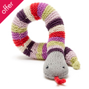 Fair Trade Crocheted Snake Rattle