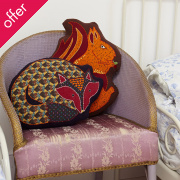 Woodland Squirrel Cushion