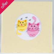 Traidcraft Handmade Sitting Cats Card
