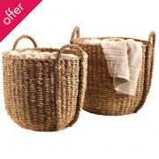 Traidcraft Traditional Holga Baskets - Set of 2