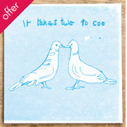 It takes Two to Coo Card