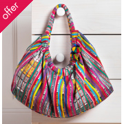 Traidcraft Recycled Guatemalan Bag with Pom Poms