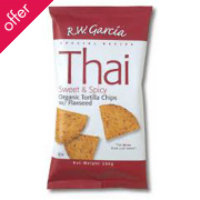 RW Garcia Sweet & Spicy Thai Tortilla Chips with Flaxseed - 200g