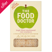 The Food Doctor High Fibre & Multiseed Rye Crackers - 200g