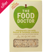 The Food Doctor Rye with Fennel & Caraway Crackers - 200g