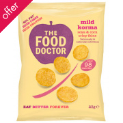 The Food Doctor Mild Korma Corn & Soy Crisp Thins - 23g