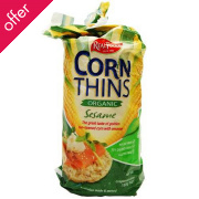 Real Foods Sesame Corn Thins - 150g