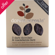 Dorset Cereals Cereal Bars - Chocolate & Macadamia - Pack of 3 - 40g