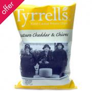 Tyrrells Mature Cheddar & Chives Potato Crisps - 40g
