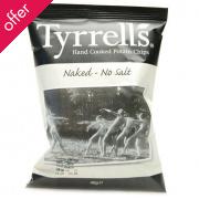 Tyrrells Naked Potato Crisps (No Added Salt) - 40g