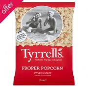 Tyrrells Sweet & Salty Popcorn - 80g