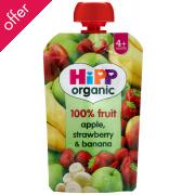 HiPP Organic Apple,Strawberry & Banana - 4m+ - Pouch - 100g