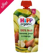HiPP Organic Banana,Pear & Mango - 4m+ - Pouch - 100g