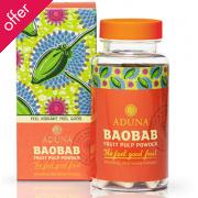 Aduna Baobab Fruit Pulp Powder Capsules - 90 Caps