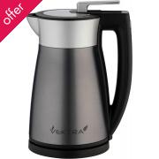 Vektra Vacuum Kettle - 2 Series - 1.5 Ltr Silver