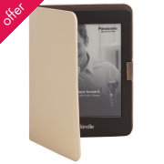 Recycled Leather E-reader Case - Ivory