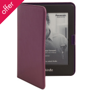 Recycled Leather E-reader Case- Burgundy