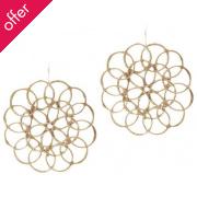 Believer Jewellery Recycled Silver Fibonacci Earrings