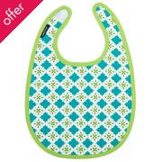 Reversible Baby Bib - Tiles