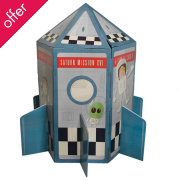 Cardboard Space Rocket Playhouse