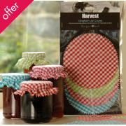 Gingham Jar Covers