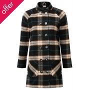 Komodo Lillami Check Wool Coat