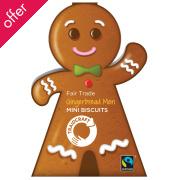 Traidcraft Gingerbread Men Mini Biscuits - 150g