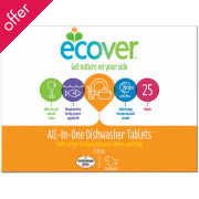 Ecover Dishwash Tablets - All In One - 25 Tablets